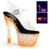 CRYSTALIZE-308PS Clear/Neon Orange Crystal
